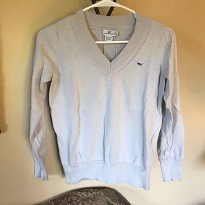 Women's Vineyard Vines Gray Light V Neck Sweater